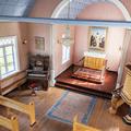 Inside 19th-century church.- Reykholt