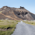 The dirt road to the parking area.- Saxhóll