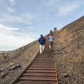 Stairs leading up the crater.- Saxhóll