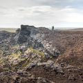 Inside the rim of the crater.- Saxhóll
