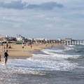 Looking north from the inlet jetty.- Ocean City