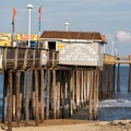 A view of the fishing pier from behind.- Ocean City