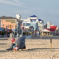 An example of children's playground equipment on the beach.- Ocean City