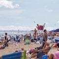 A busy day on the beach.- Ocean City