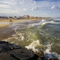 A view from the inlet looking north on a hot summer afternoon.- Ocean City