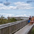 A walkway to the beach on the Maryland side.- Assateague Island National Seashore