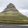 """Church Mountain"" carved by glaciers.- Kirkjufell and Kirkjufellsfoss"
