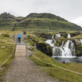 Walking paths are on both sides of the water.- Kirkjufell and Kirkjufellsfoss