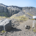 Trailhead up to the gorge.- Rauðfeldsgjá Gorge
