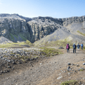 Rauðfeldargjá and Mount Botnsfjall.- Rauðfeldsgjá Gorge
