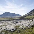 A valley worn from glacial runoff.- Rauðfeldsgjá Gorge