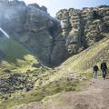 The Rauðfeldsgjá Gorge.- Rauðfeldsgjá Gorge
