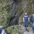 Approaching the gorge.- Rauðfeldsgjá Gorge