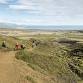 Returning back down into the valley.- Rauðfeldsgjá Gorge