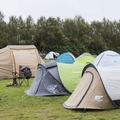 Tents in the western field.- Reykjavík Eco Campsite