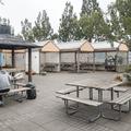 The central picnic area.- Reykjavík Eco Campsite