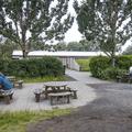 More picnic tables.- Reykjavík Eco Campsite