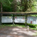 Information and pay station for Kiahanie Campground.- Kiahanie Campground
