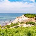 Aquinnah Cliffs seen from Gay Head Lighthouse.- Gay Head Lighthouse