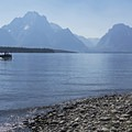 The Grand Tetons.- Jackson Lake via Colter Bay Marina