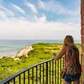 Enjoying the views at Gay Head Lighthouse.- Gay Head Lighthouse