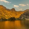 Alpenglow at Hamilton Lake.- Mineral King Loop: Timber Gap to Sawtooth Gap
