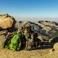 Relaxing atop Sawtooth Gap.- Mineral King Loop: Timber Gap to Sawtooth Gap