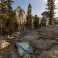 Camp at Big 5 Lakes.- Mineral King Loop: Timber Gap to Sawtooth Gap