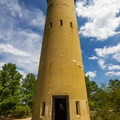 A guard tower.- Fort Miles Historical Area