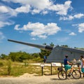 A 16-inch gun pointing out over the coast.- Fort Miles Historical Area