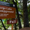 The campground is located just off Diablo Street off of Highway 20.- Gorge Lake Campground