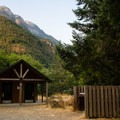 Well-maintained vault toilets and garbage bins are provided.- Gorge Lake Campground