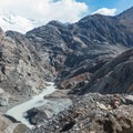 The view behind after making the glacier.- Huemul Circuit