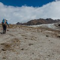 Stay on the dirt to maintain traction on the ice.- Huemul Circuit