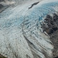 Close-up of the Rio Tunel Glaciar Superior.- Huemul Circuit