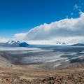 Panoramic views of the ice field.- Huemul Circuit