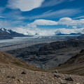 The view behind of the Southern Patagonian Ice Field.- Huemul Circuit