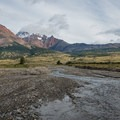 On the way back across the steppe.- Huemul Circuit