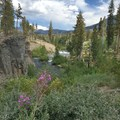 Just above Rainbow Falls.- Iva Bell Hot Springs via Fish Creek Trail