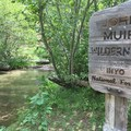 The John Muir Wilderness starts at Crater Creek.- Iva Bell Hot Springs via Fish Creek Trail