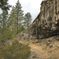 Interesting geology near the midpoint of the hike.- Iva Bell Hot Springs via Fish Creek Trail