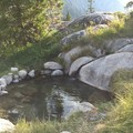 A closer look at the lowest pool.- Iva Bell Hot Springs via Fish Creek Trail