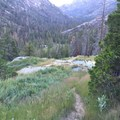 Uphill of the middle three pools. - Iva Bell Hot Springs via Fish Creek Trail