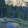 The lower pool of the middle three.- Iva Bell Hot Springs via Fish Creek Trail
