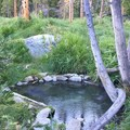 A seculded pool near the lowest pool.- Iva Bell Hot Springs via Fish Creek Trail