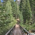 Crossing over Fish Creek.- Iva Bell Hot Springs via Fish Creek Trail