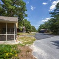 A loop of cabins.- Cape Henlopen State Park Campground