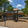 The centrally-located campground playground.- Cape Henlopen State Park Campground