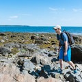 Walking along the seacoast.- Odiorne Point State Park + Seacoast Science Center