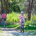 Biking along the coast.- Odiorne Point State Park + Seacoast Science Center